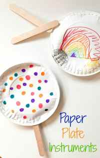 Easy Paper Plate Instruments: A Fun Rainy Day Activity for ...