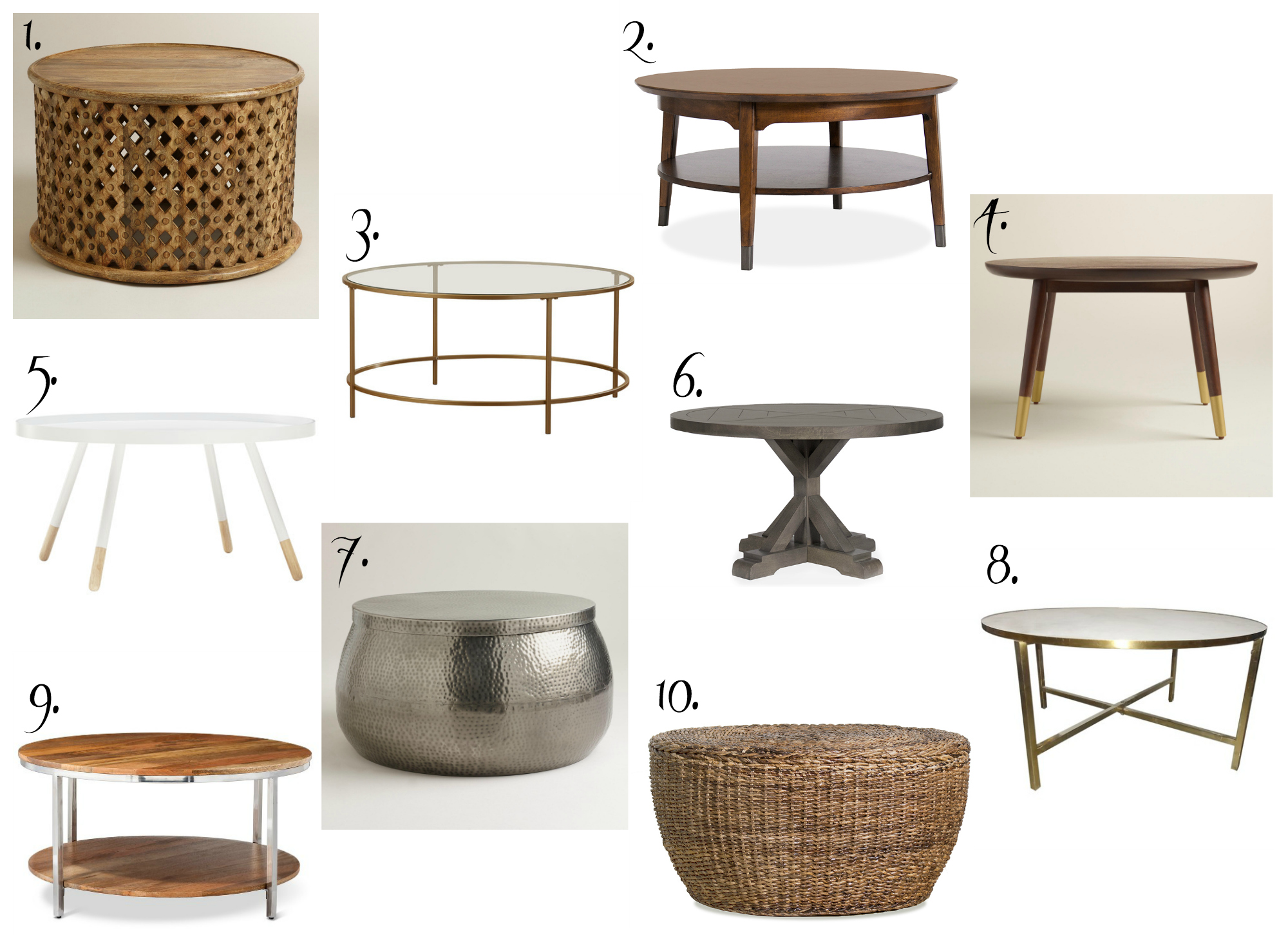 Images Of Round Coffee Tables Affordable Round Coffee Tables The Chronicles Of Home