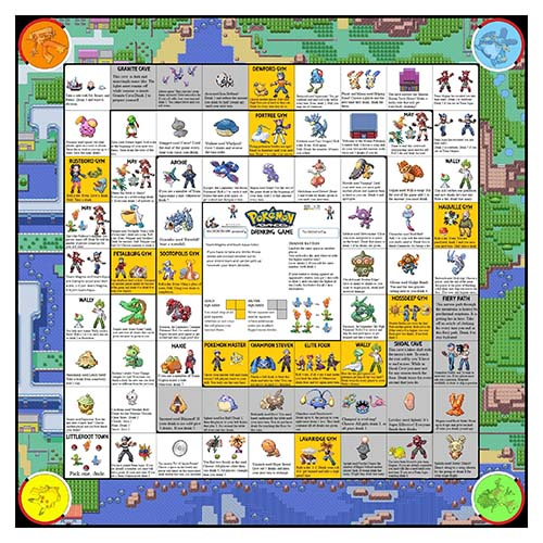 The Pokemon Drinking Game, All Board Games - The Chuggernauts