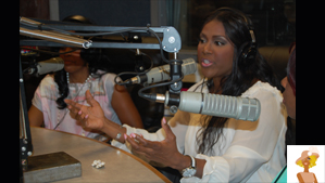 """Juanita Bynum at Atlanta V103 Radio station"""