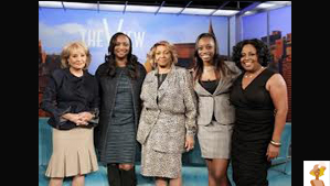 """Cissy Houston, Pat Houston, Barbara Walters and Sherre Shepherd"""