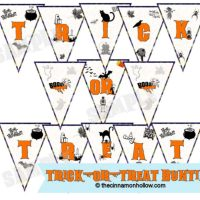 Halloween Bunting Printable: Trick-Or-Treat #halloween #bunting #printable