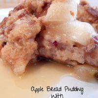 Apple Bread Pudding Recipe With Apple Pie Moonshine Glaze