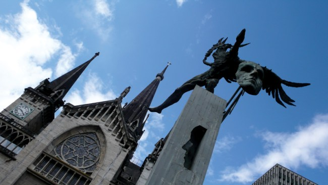 The main cathedral in Manizales, Colombia