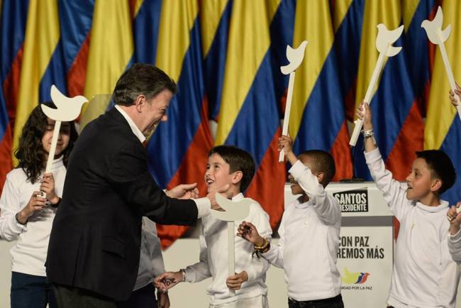 Juan Manuel Santos after winning the second round of elections June 15th.