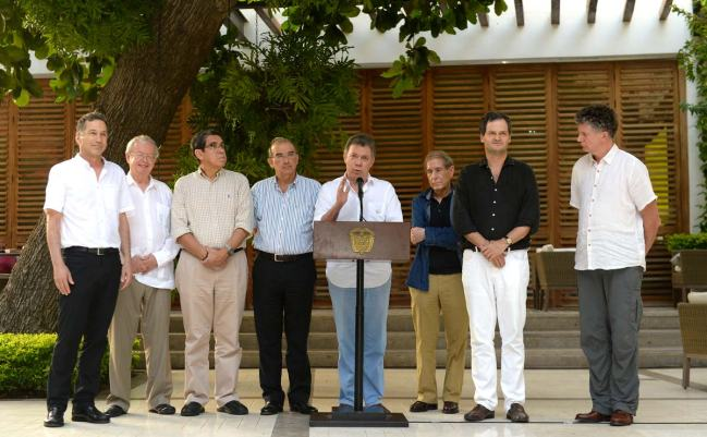 President Santos speaks in Cartagena about progress on peace talks