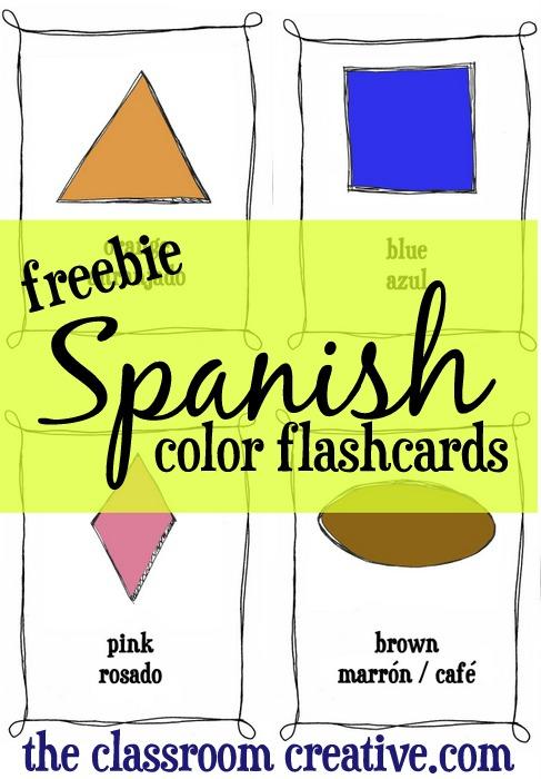 Spanish Color Words Flashcards {FREEBIE}