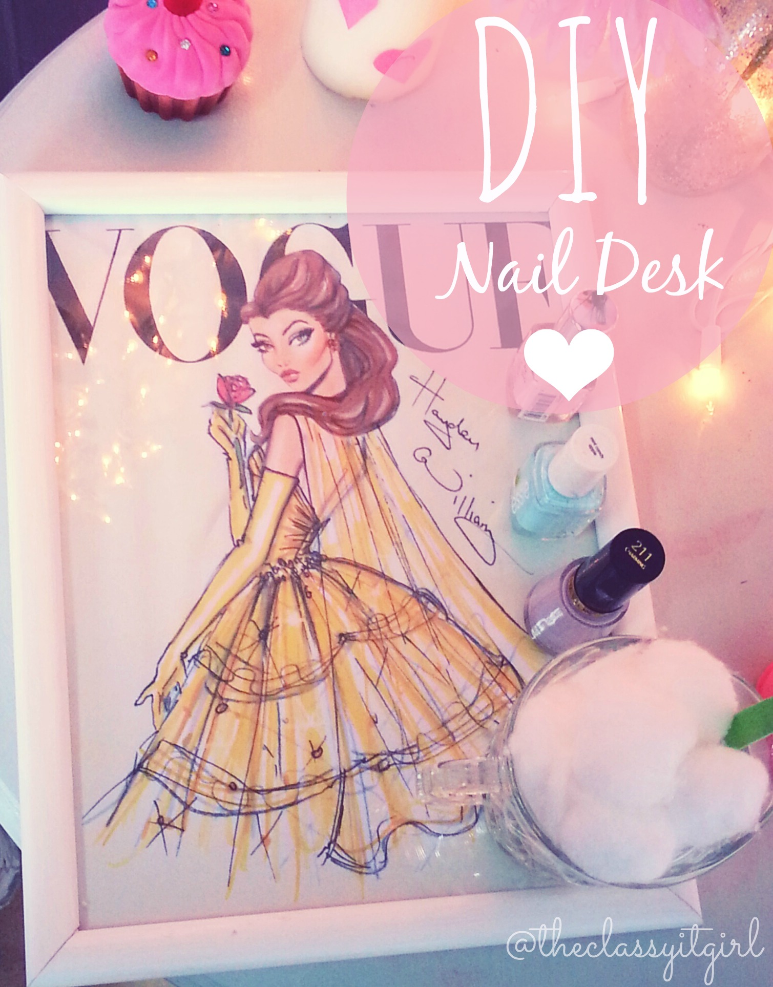 Diy Nail Desk Diy Nail Desk The Classy It Girl