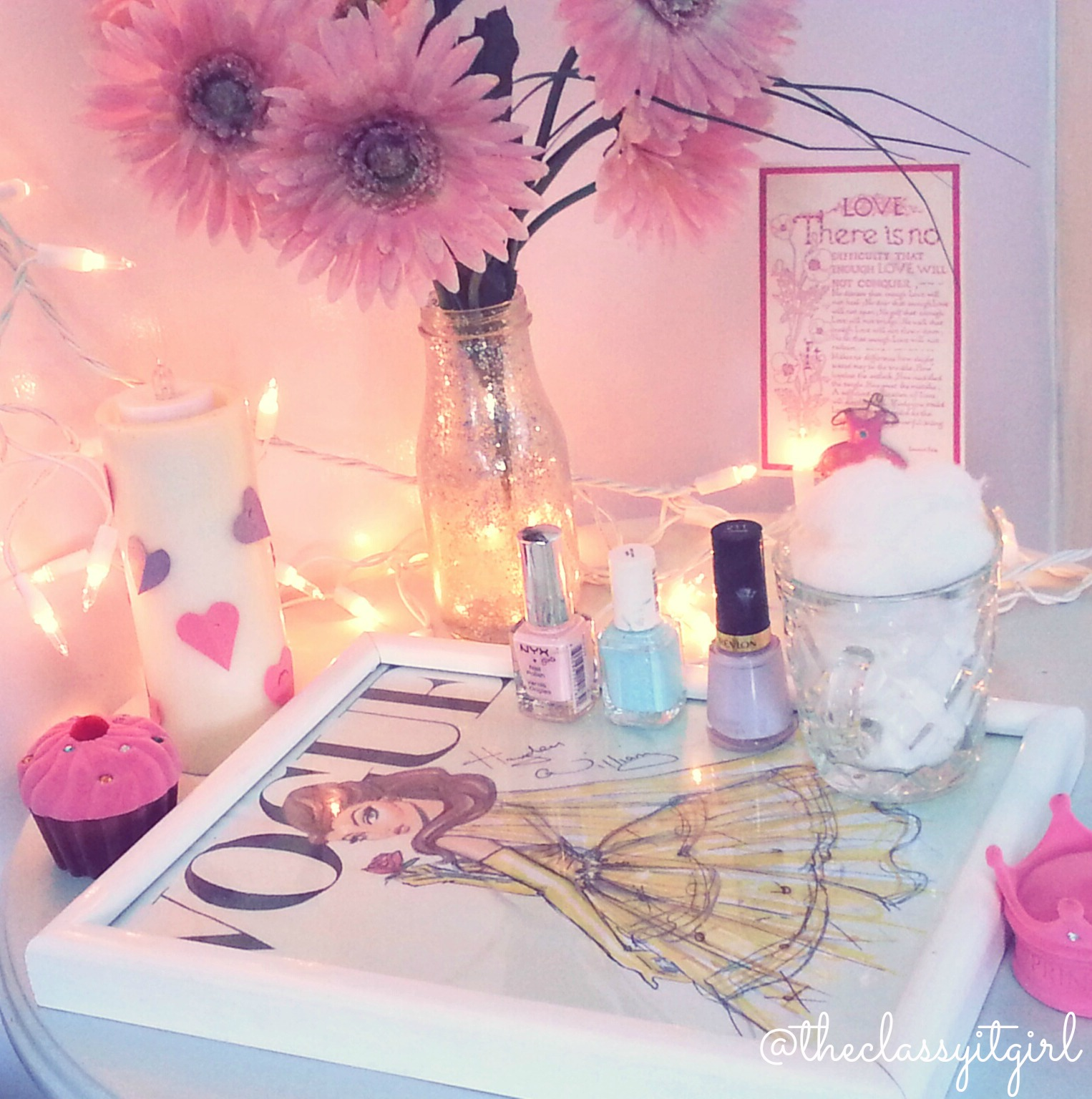 Diy Nail Desk Diy Easy Nail Desk The Classy It Girl