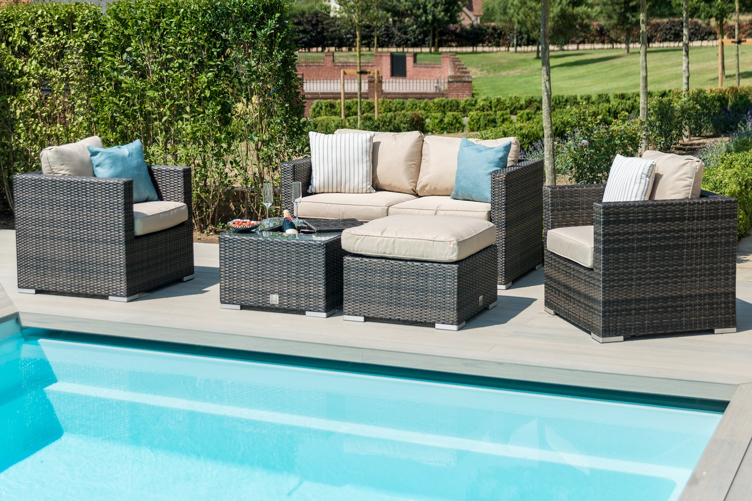 Rattan Corner Sofa Ireland Maze Rattan Georgia 2 Seat Sofa Set With Ice Bucket