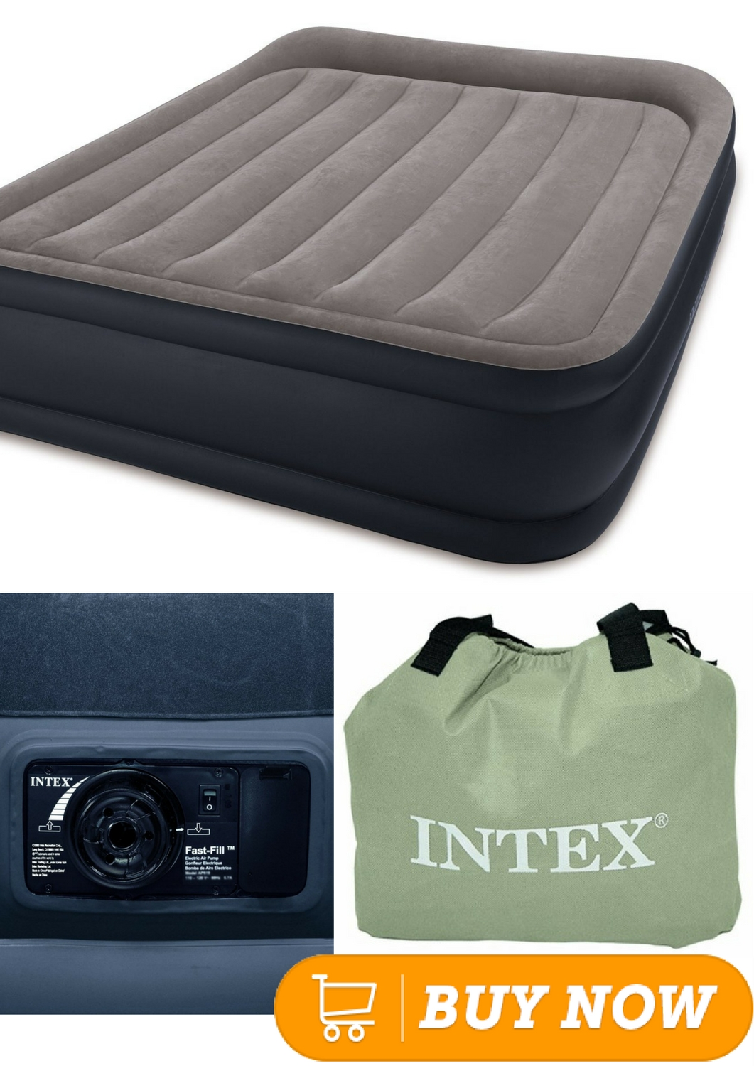 Intex Built In Pump Intex Pillow Rest Raised Airbed With Built In Pillow And Electric