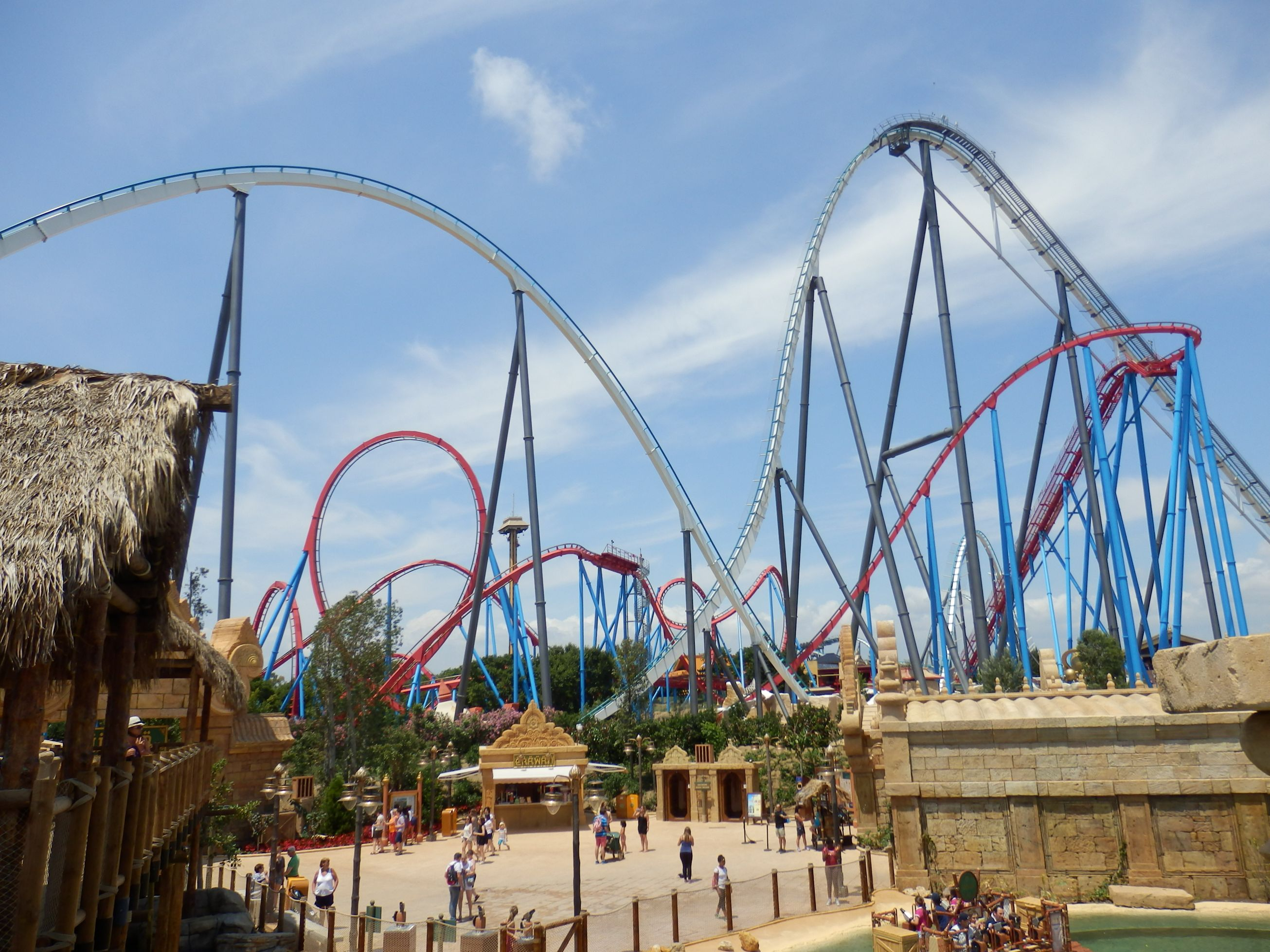 Large Coasters Ride Review Shambhala Portaventura Coaster Kings