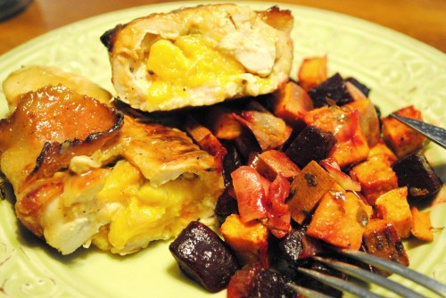 Peach Stuffed Bacon Wrapped Chicken 3