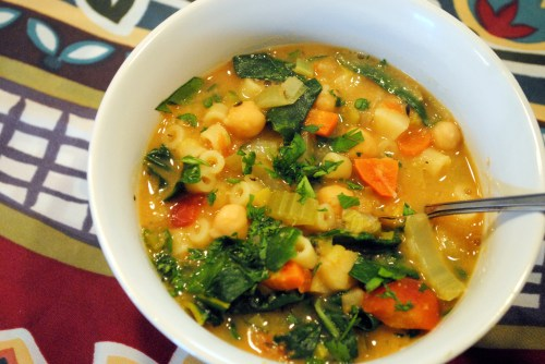 Tuscan Chickpea Soup with Swiss Chard