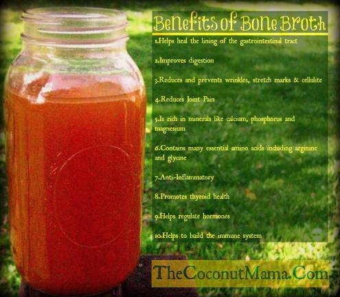 Nutrient Dense Bone Broth from The Coconut Mama