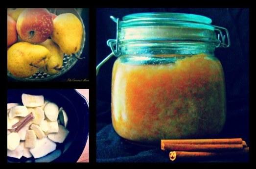 Simple Crockpot Pear & Applesauce Recipe from The Coconut Mama