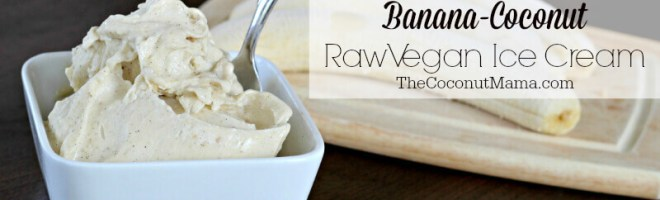 Banana-Coconut Raw Vegan Ice Cream
