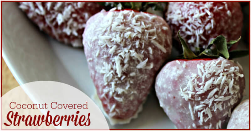 how to make chocolate covered strawberries with coconut oil