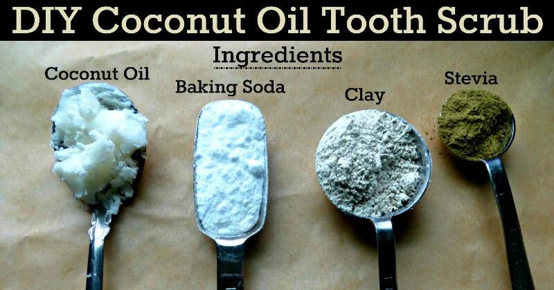 Homemade Coconut Oil Tooth Scrub