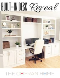 Built-In Desk Reveal - The Cofran Home