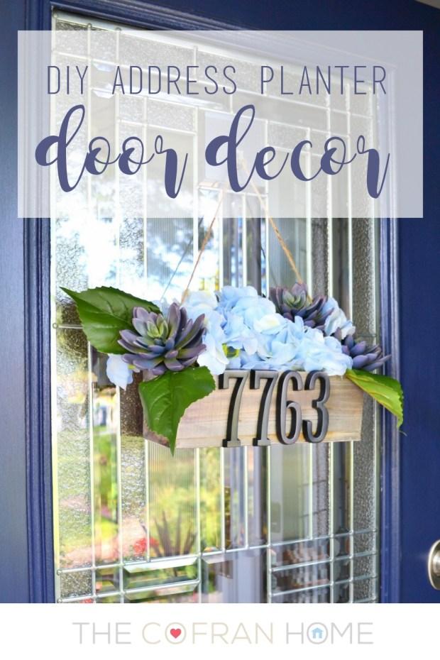 DIY Address Planter Door Decor