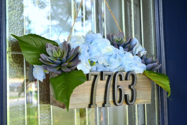 Door Hanger with home address numbers