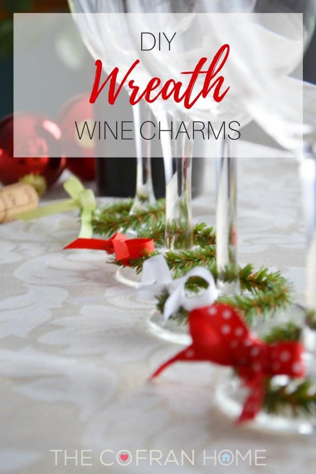 DIY Wreath Wine Charms