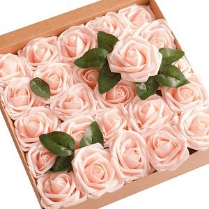Artificial Flowers Blush Roses