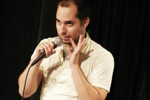 Harris Wittels, performing at Whiplash comedy show at the UCB Theatre in NYC. Photo by Mindy Tucker.