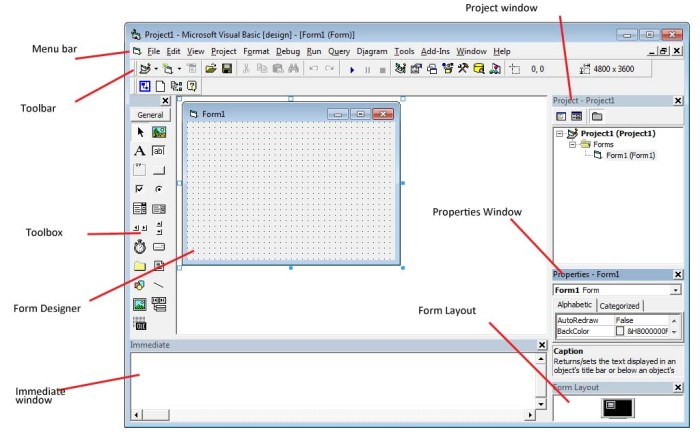The Visual Basic Integrated Development Environment