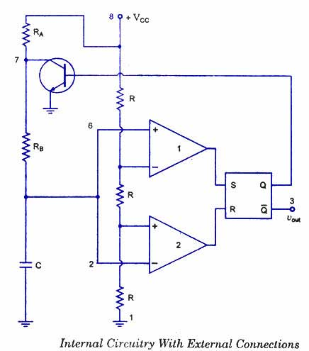 Timer IC 555 in Astable mode as Multivibrator operation