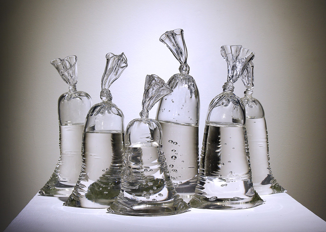 Glas Art Glass Sculptures In The Shape Of Plastic Bags The Cool