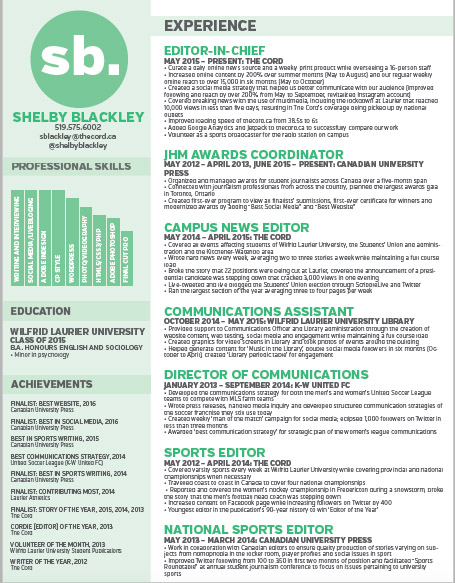 Best tips and tricks for a standout resume \u2013 The Cord