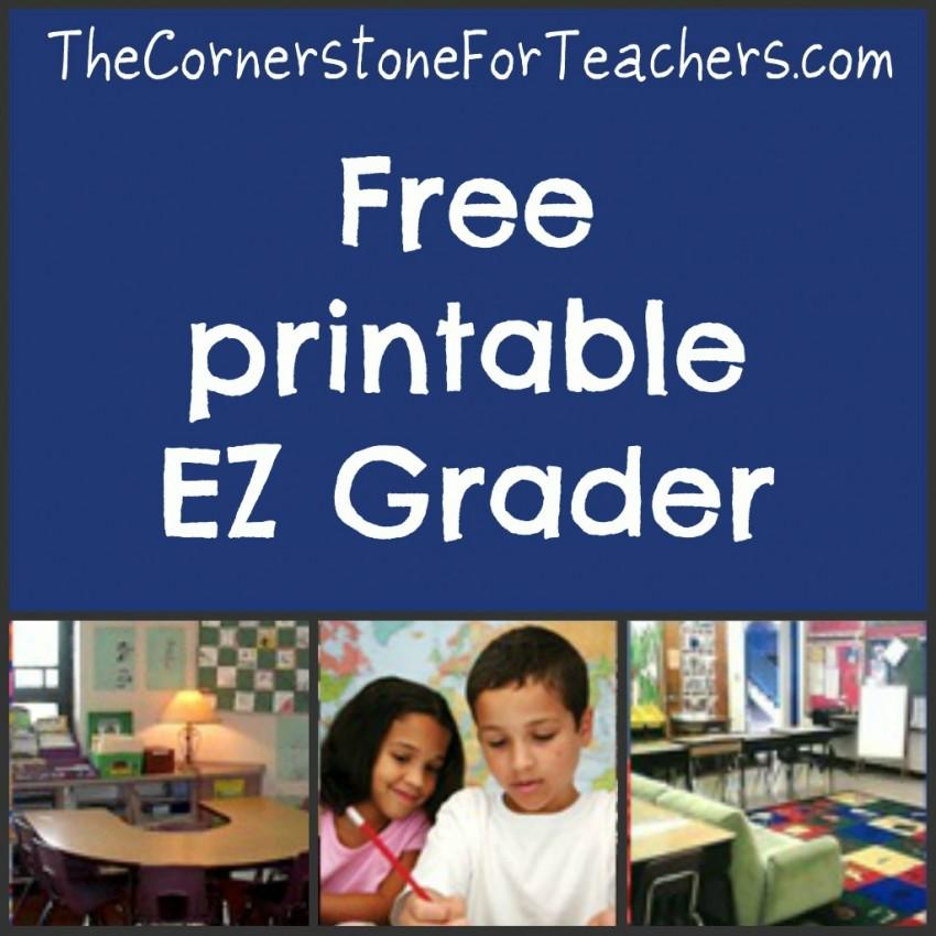 Printable EZ Grader