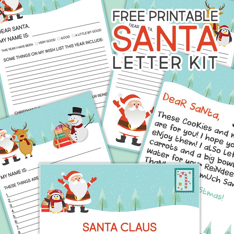 Free Printable Santa Letter Kit - The Cottage Market