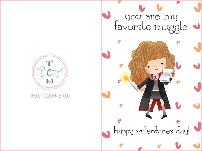 Free Printable Harry Potter Valentine\u0027s Day Cards - The Cottage Market