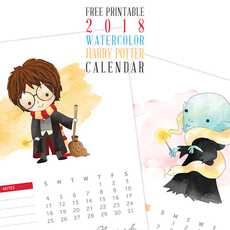 October Calendar Time And Date Calendar Month Time And Date Free Printable 2018 Watercolor Harry Potter Calendar The