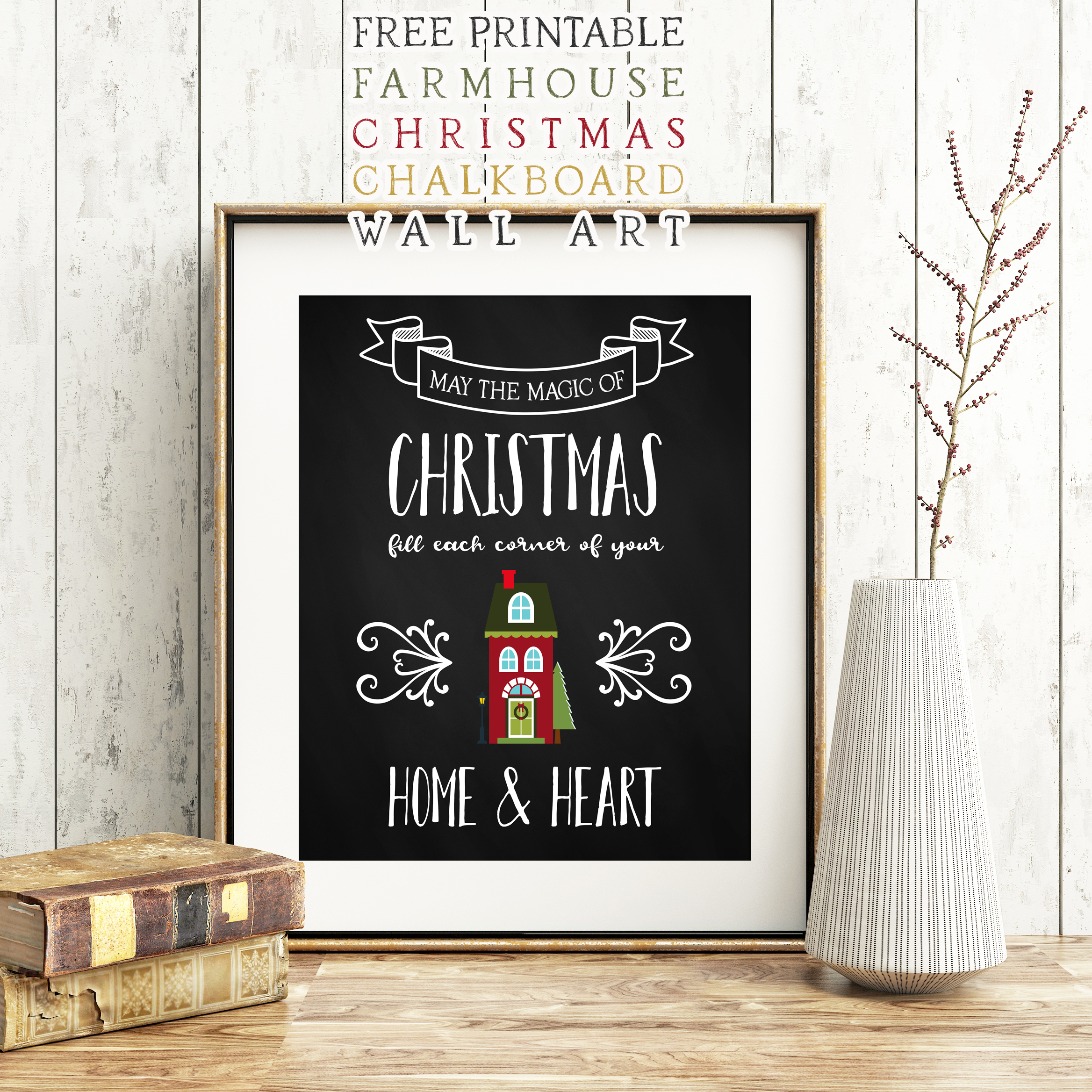 Ikea Pets Free Printable Farmhouse Christmas Chalkboard Wall Art