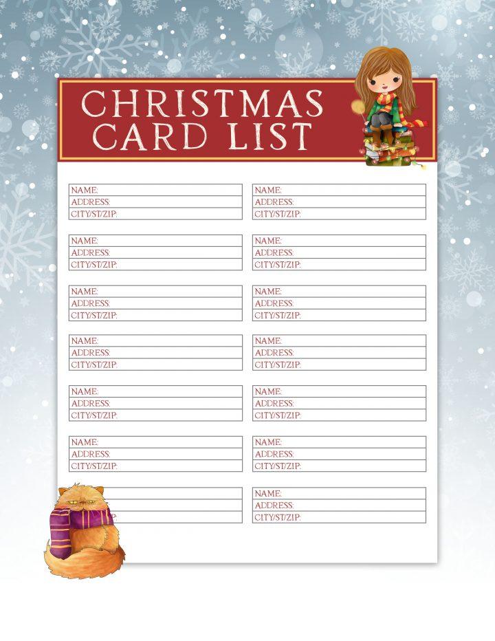 christmas card address list