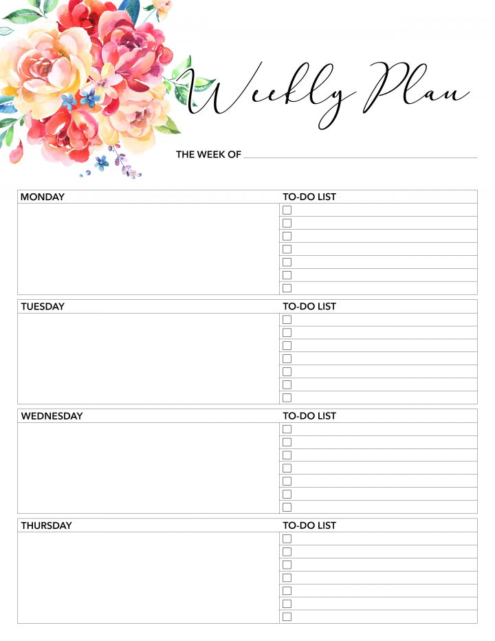 Free Printable 2018 Planner 50 Plus Printable Pages - The Cottage Market - Free Printable Weekly Planner
