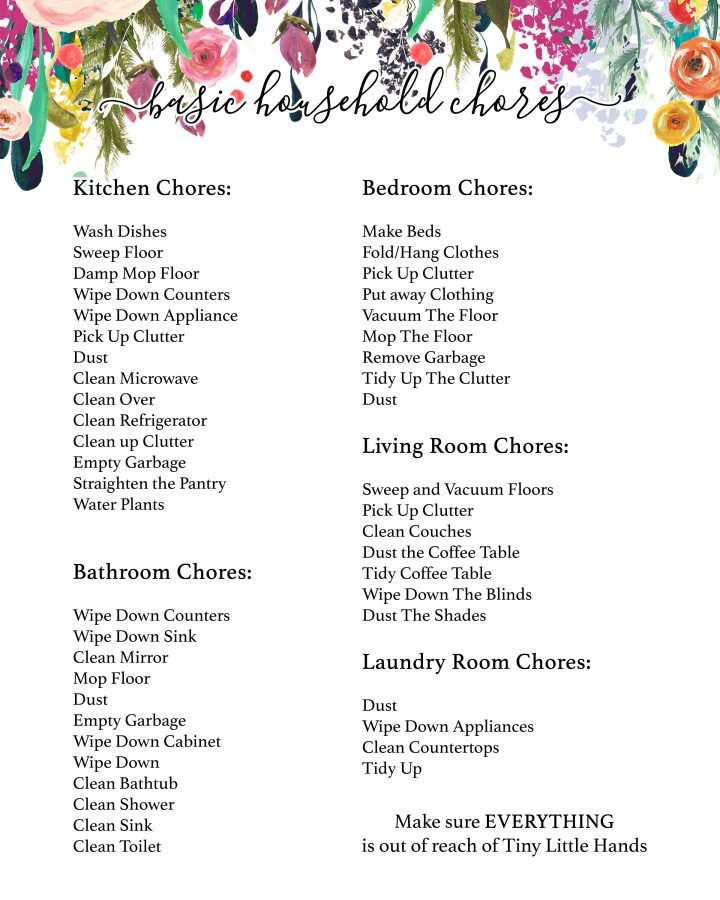 Free Printable Cleaning Check Lists - The Cottage Market