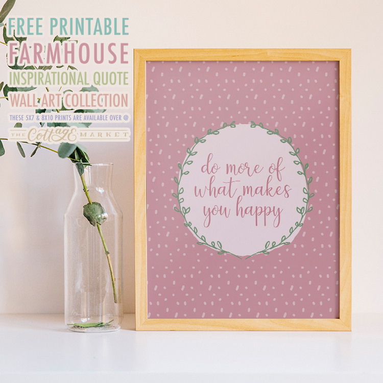 Free Printable Farmhouse Inspirational Quote Wall Art Collection