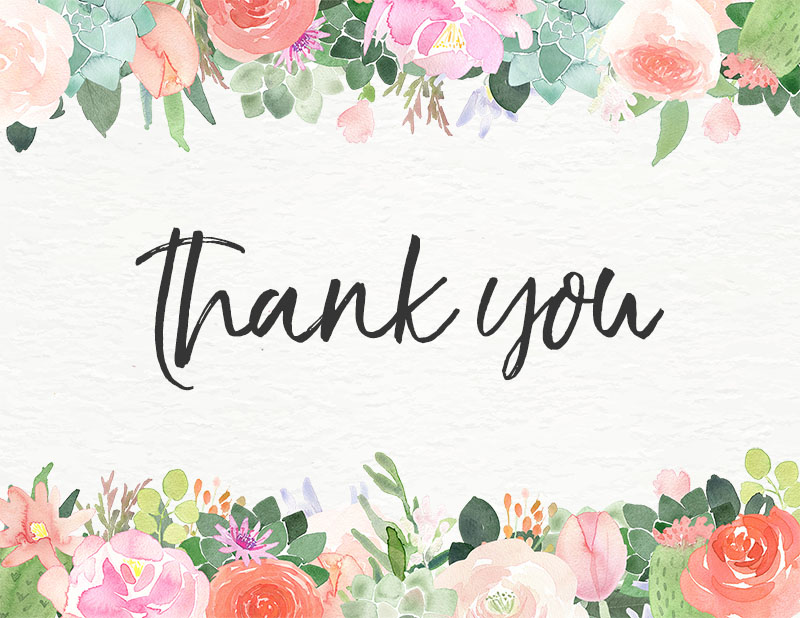 10 Free Printable Thank You Cards You Can\u0027t Miss - The Cottage Market