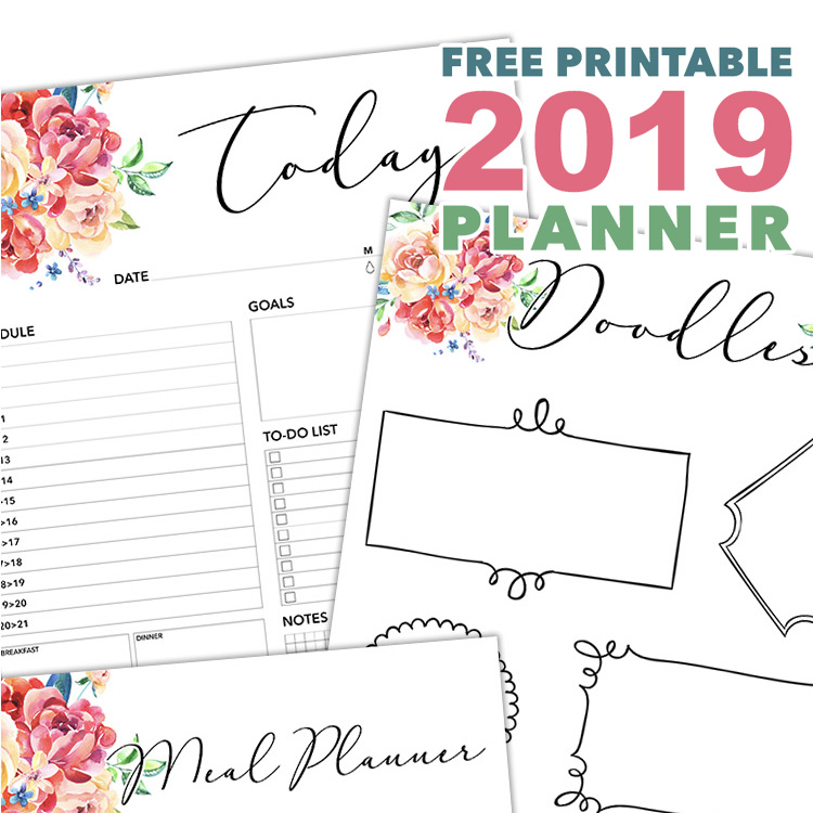 Free Printable 2019 Planner 50 Plus Printable Pages!!! - The Cottage