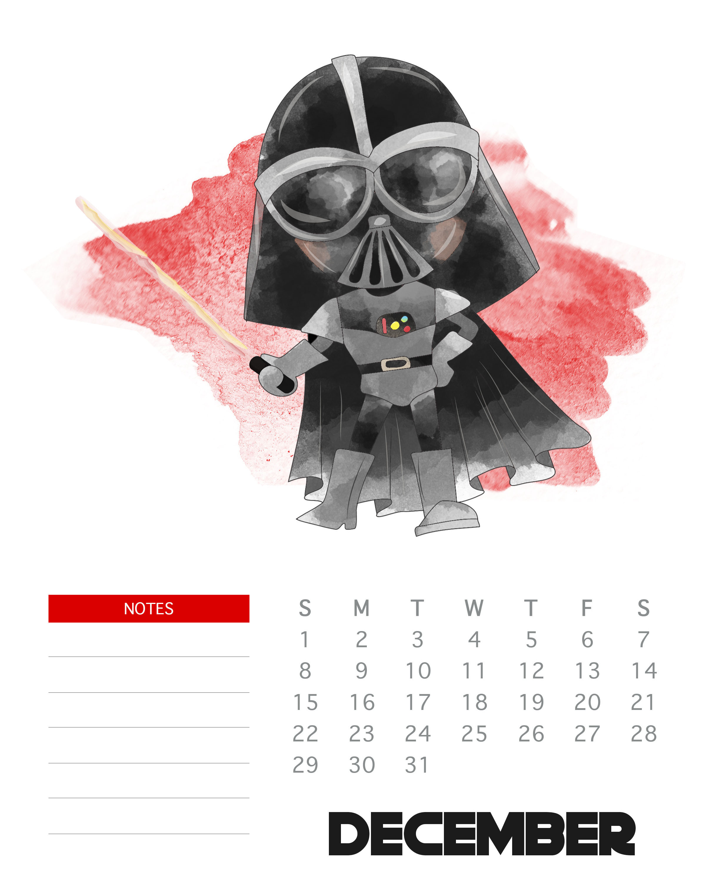 Libros Star Wars Pdf Free Printable 2019 Star Wars Calendar The Cottage Market