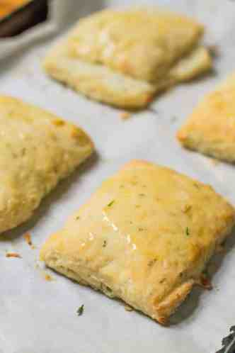 rustic cream cheese and chive biscuits