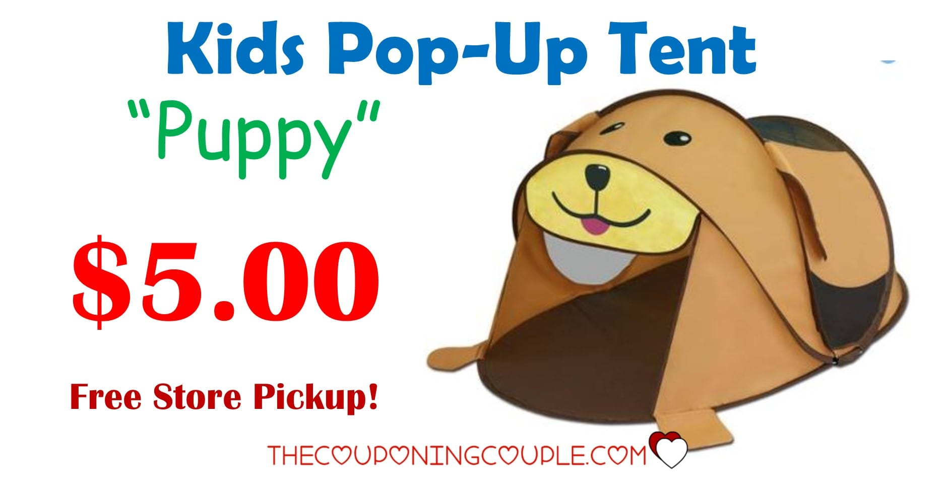 Aldi Tent Kids Pop Up Tent! Only $5.00! Free Store Pickup!