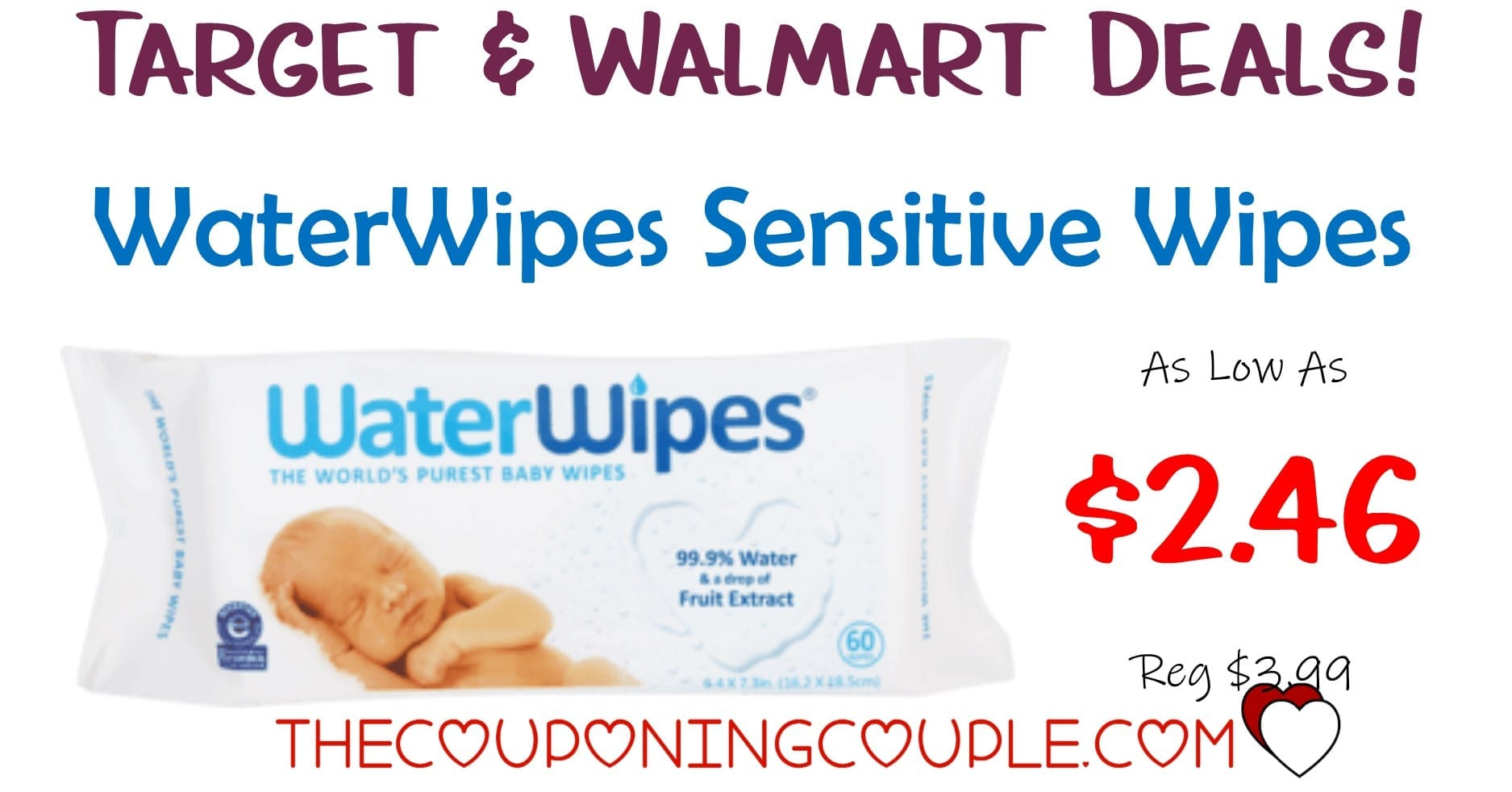 Target Baby Wipes Waterwipes Sensitive Baby Wipes With Target And Walmart Deals