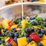 Rainbow Fruit Salad With Citrus Honey Dressing