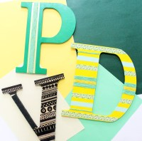 Alphabet Wall Decoration Ideas for home | The Craftables